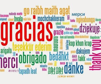 gracias en idiomas diferentes