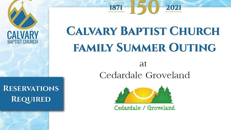 Calvary Baptist Church Family Outing