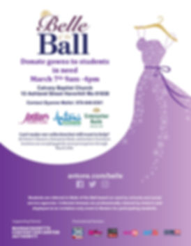 Belle of the Ball _Calvary Hosted Event.