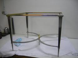 Tavolino inox ed ottone