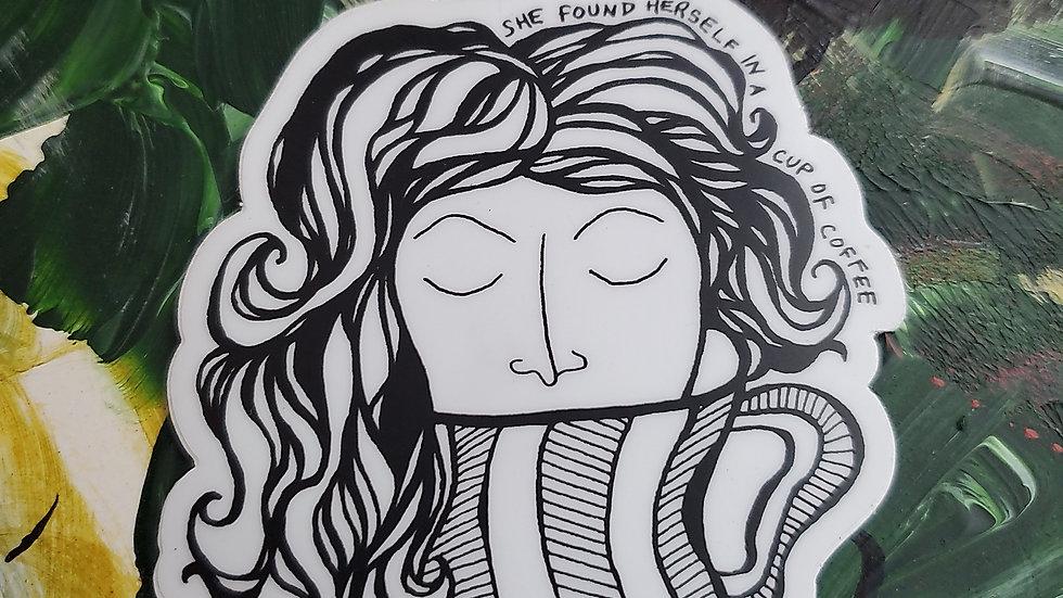 """""""She Found Herself"""" Vinyl Sticker"""