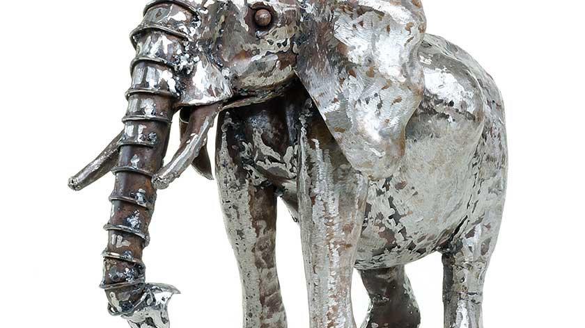 Upcycled Metal Elephant Sculpture - Kenya