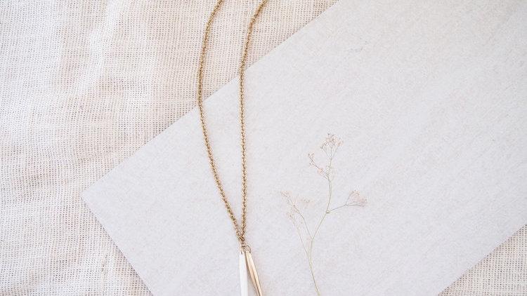 White Rod Necklace