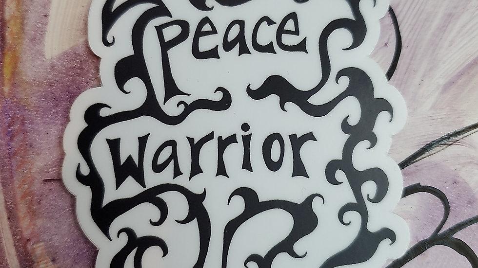 """""""Peace Warrior"""" Vinyl Sticker"""