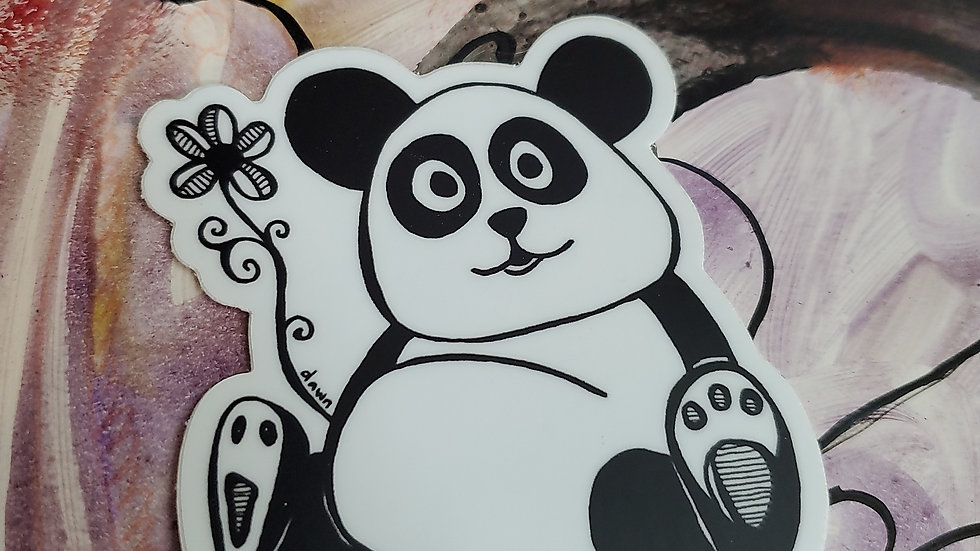 """Keep it Simple"" Panda Vinyl Sticker"