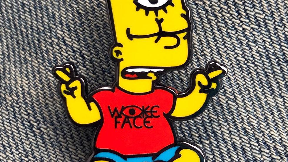 Woke Bart Enamel Pin