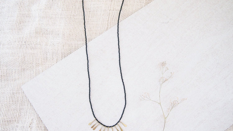 Modern Masai Necklace - Black