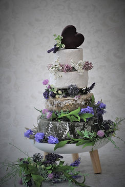 Cheese Wedding Cake with Cheddar Heart