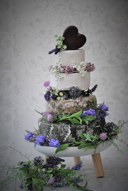 Cheese Wedding Cake on a Stand