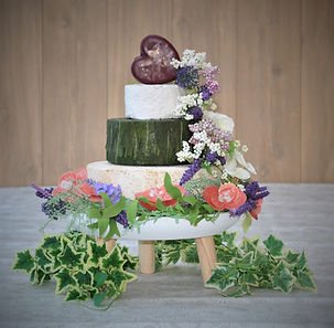 Cheese Wedding Cake with Heart and Ivy