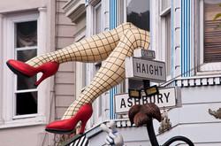 Haight Ashbury with fishnet legs