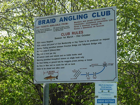 Braid Angling Club. New signage_