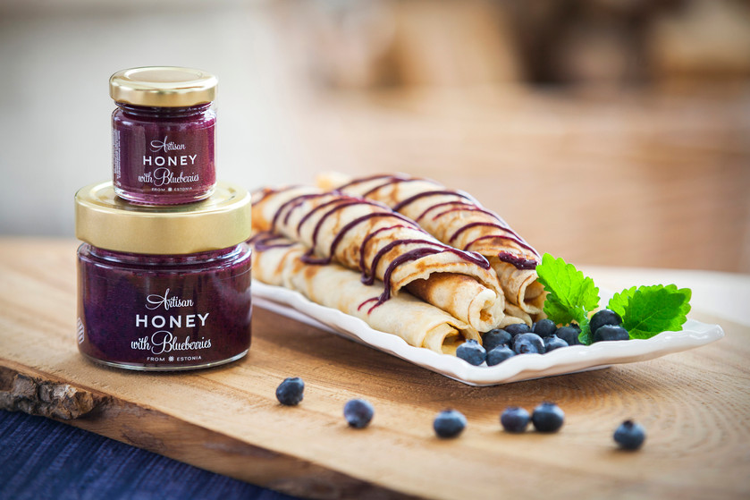 Artisan Honey with Blueberries