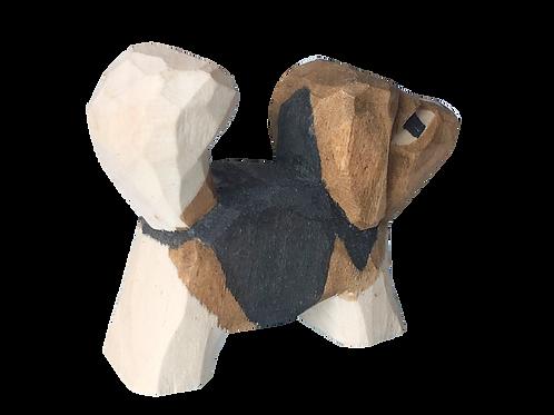 Dog-handmade wooden animal