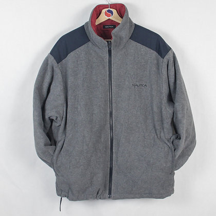 Reversible Nautica Puffer/Fleece Jacket - L