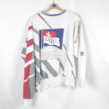 80's Adidas Olympic Games Crewneck - L (XL)