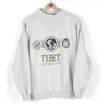 90's Tibet Expedition Mock Neck Sweatshirt - M