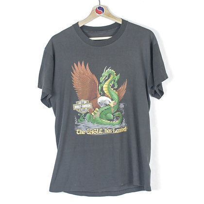 1988 Harley Davidson The Eagle Has Landed Tee - S