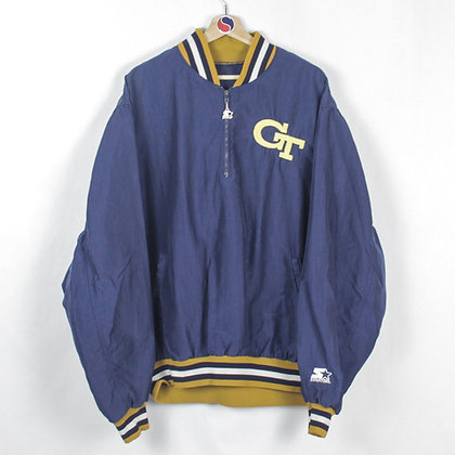 80's Georgia Tech Starter Windbreaker - XL