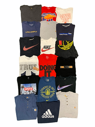 Branded T-shirt Tees 18 Item Wholesale Bundle Lot (Nike, Carhartt)