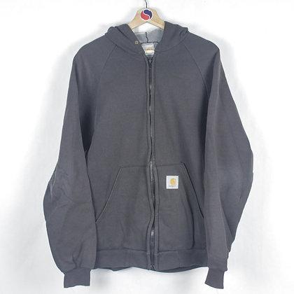 Fleece Lined Carhartt Zip Hoodie - M