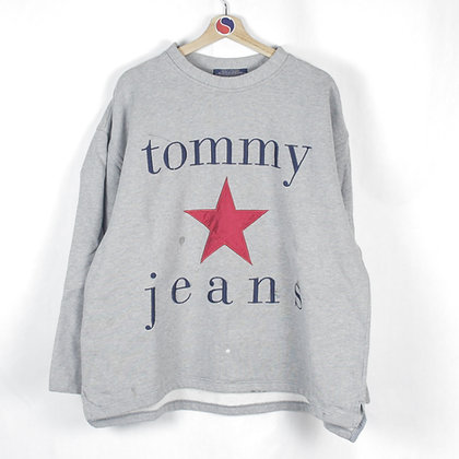 90's Tommy Hilfiger Star Crewneck - L