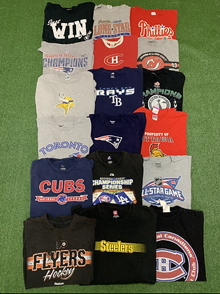 Pro Sports Tees Wholesale Bundle Lot (Senators, Devils, Raiders, Patriots, Jays)