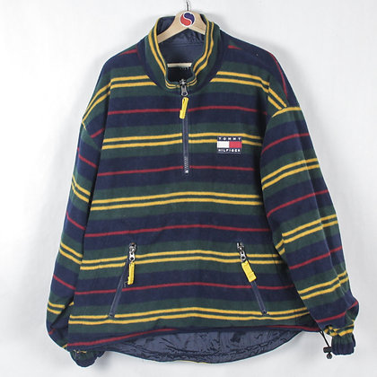 90's Tommy Hilfiger Reversible Fleece/Light Jacket - XL