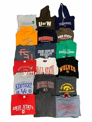 Varsity College University Sweatshirt 18 Item Wholesale Bundle Lot (Ohio, FSU)