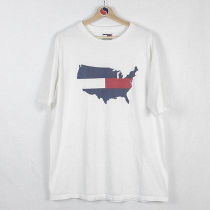 Vintage Tommy Hilfiger USA Flag Tee - L