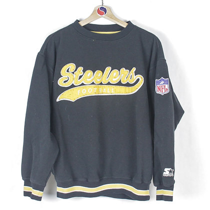 90's Pittsburgh Steelers Starter Crewneck - L