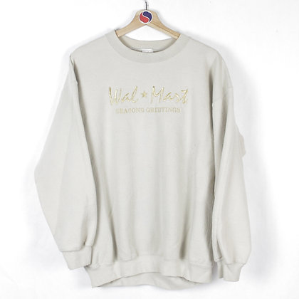 2000's Walmart Seasons Greetings Crewneck - L