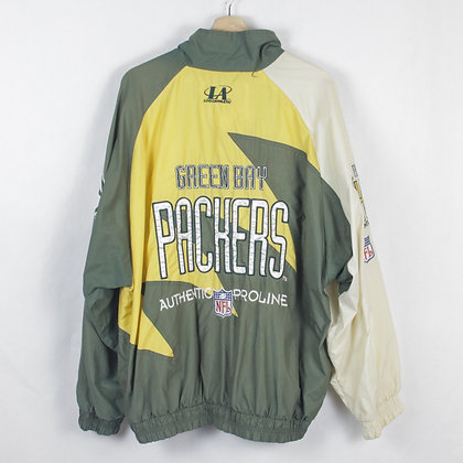 Vintage Green Bay Packers Pro Line Windbreaker - XL