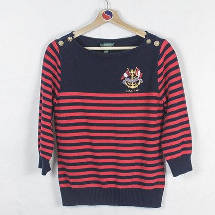 Women's Lauren Ralph Lauren Sailing Sweater - L (M)