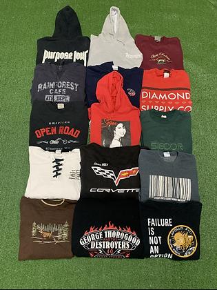 Assorted Sweatshirt Wholesale Bundle Lot (Selena, Diamond, Harley Davidson)