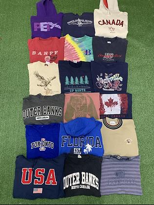 Locations Sweatshirt Tees Wholesale Bundle Lot (Outer Banks, Michigan, Toronto)