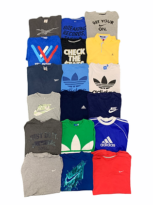 Branded Tee T-shirt 18 Item Wholesale Bundle Lot (Nike, Adidas, Reebok,VonDutch)