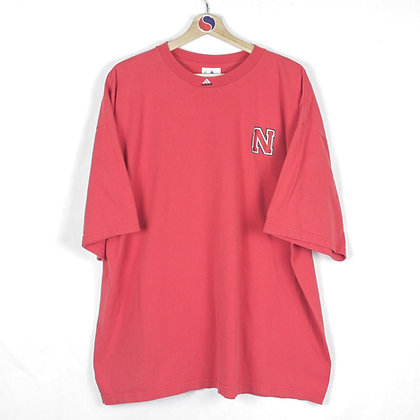 90's Nebraska Adidas Tee - XL