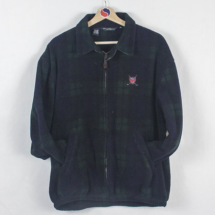 Vintage Polo Ralph Lauren Golf Plaid Fleece - XL (L)