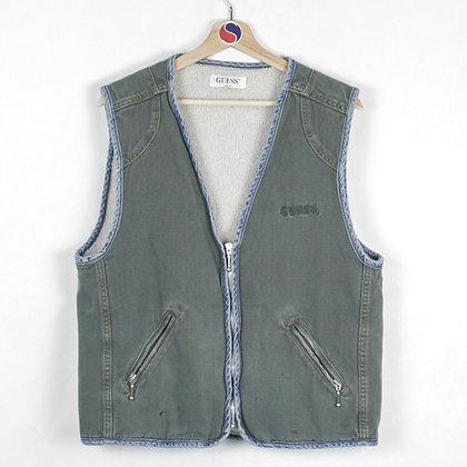 90's Fleece Lined Guess Vest - M