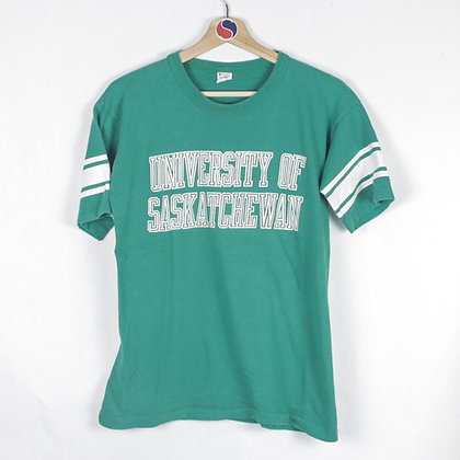 80's Women's University Of Saskatchewan Champion Tee - XL (L)