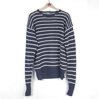 90's Polo Ralph Lauren Linen Sweater - XL