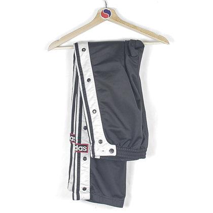 90's Adidas Snap Track Pants - L
