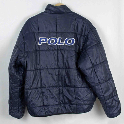 Vintage Polo Sport Reversible Pullover Puffer Jacket - M