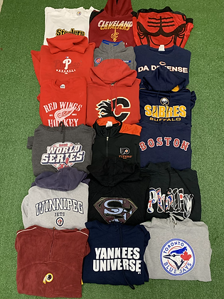 Pro Sports Sweatshirts Hoodie Wholesale Bundle Lot (Yankees, Jays, Steelers)