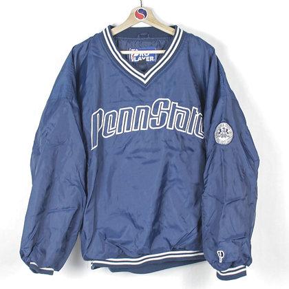 90's Penn State Pro Player Pullover Windbreaker - L