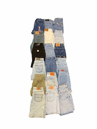 Women's High Waisted Denim Shorts 18 Item Wholesale Bundle Lot (Levi's, Tommy)