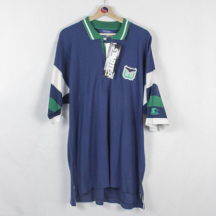 Vintage Hartford Whalers Deadstock NWT Starter Polo -XL