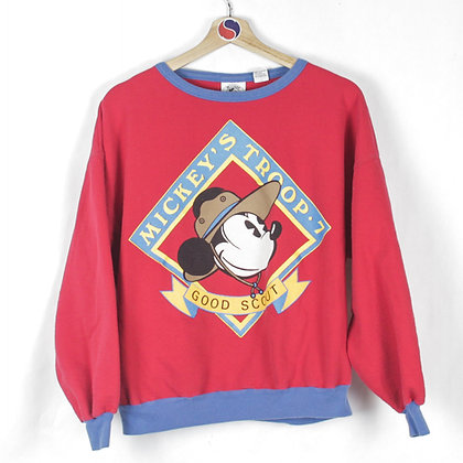 90's Women's Mickey's Troop Good Scout Crewneck - L