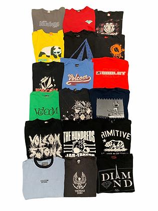 Skate Snow Surf Tee T-shirt 18 Item Wholesale Bundle Lot (Volcom, Hundreds, Adio